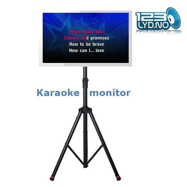 Karaokemonitor for sang tekst