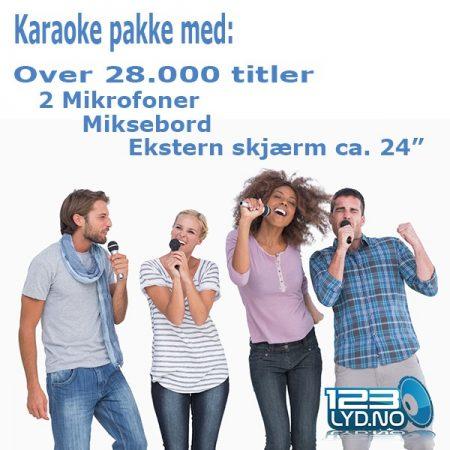 Karaoke pakke til leie