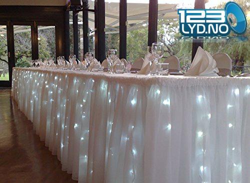 Led lys til fest bordet