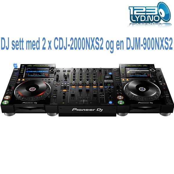 Pioneer DJ CDJ2000NXS2 og DJM900NXS2 DJ Pakke