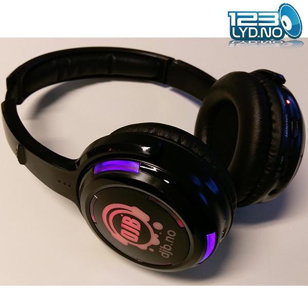 Silent disco trådløst headset øretelefon