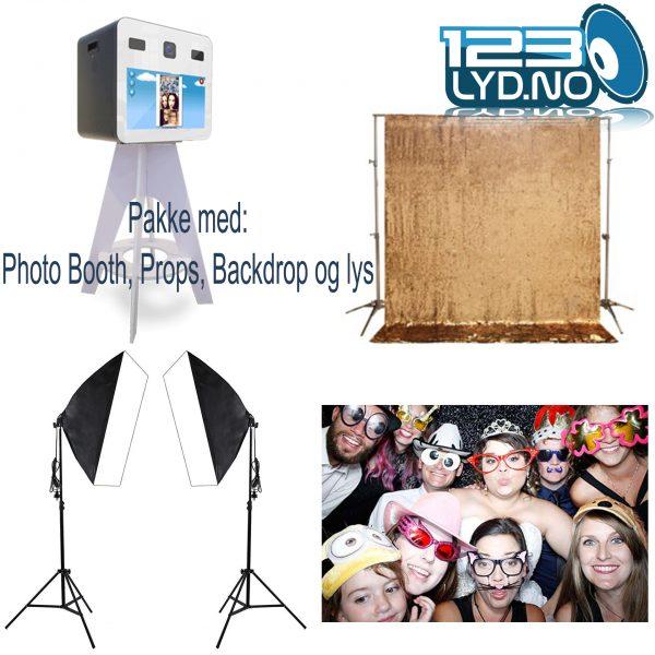 Photo Booth Pakkeløsning med alt inkl med photo lamper