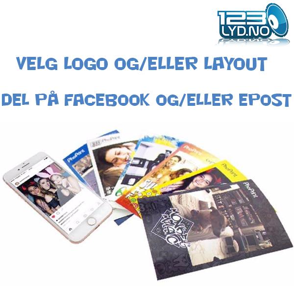 Photobooth layout selfi boks til leie
