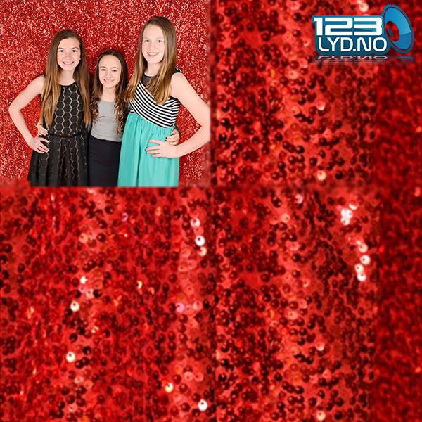 backdrop photo booth rød