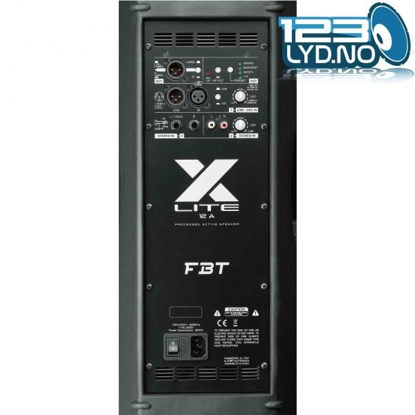 X-Lite Høyttaler og monitor bakside