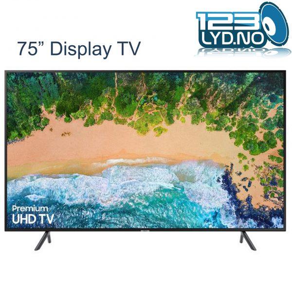 75 tommer display tv til leie