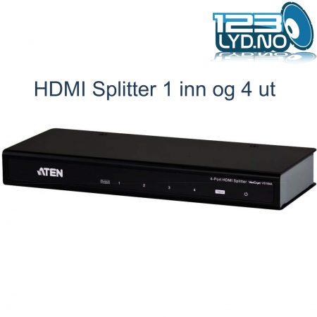 HDMI Splitter 1 inn og 4 ut AV