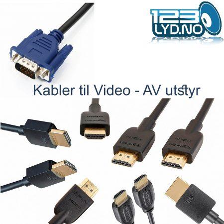 Kabler til Video utstyr