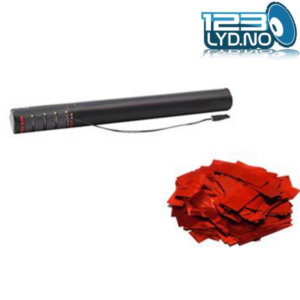 Rød metallic confetti