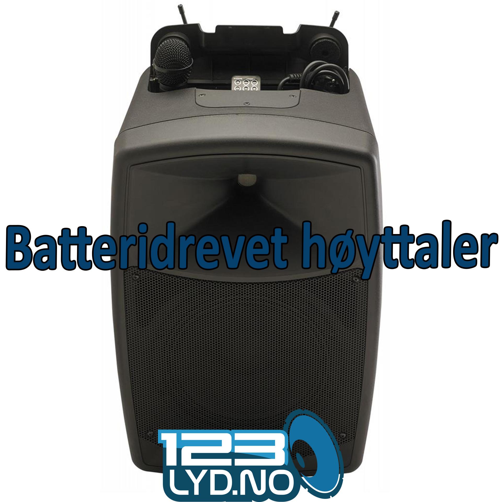 Leie batteridrevet høyttaler med trådløs mikrofon? Lyd og