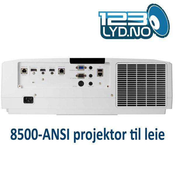 NEC PA853W leie projektor 3